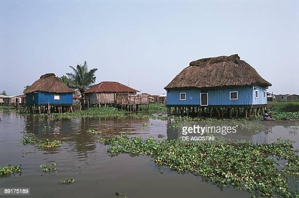 Stilt houses on a lake Lake Nokoue Genie Benin