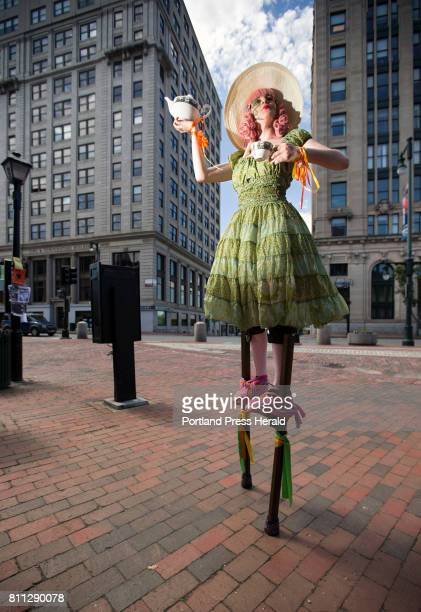 Stiltwalker Rose Humeniuk is a newcomer to the street scene making her very first appearance on First Friday in June Since then the 23yearold...