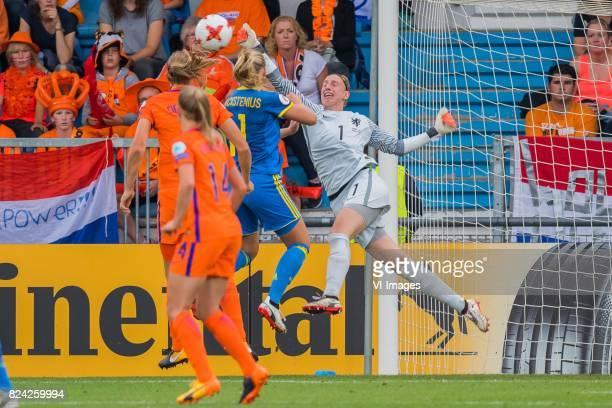 Stina Blackstenius of Sweden women goalkeeper Sari van Veenendaal of Holland Women during the UEFA WEURO 2017 quarter finale match between The...