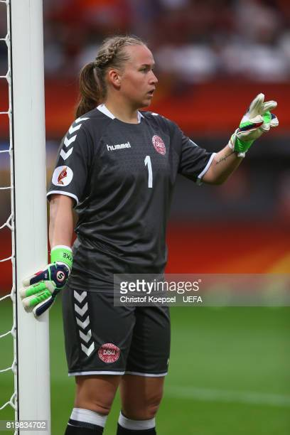 Stina Lykke Petersen of Denmark issues instructions during the UEFA Women's Euro 2017 Group A match between Netherlands and Denmark at Sparta Stadion...