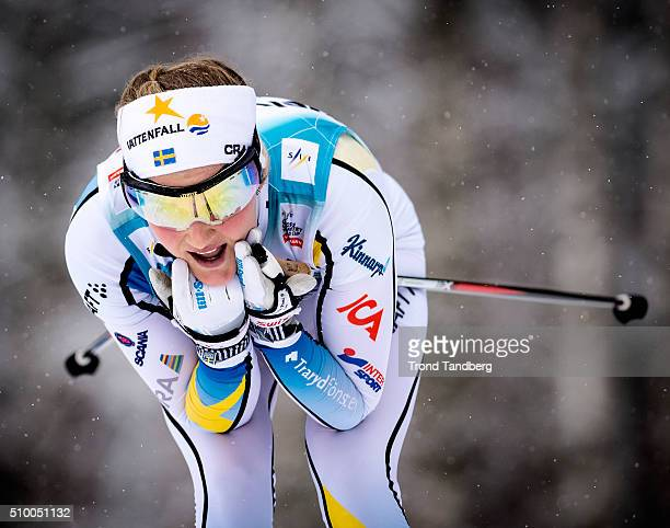 Stina Nilsson of Sweden during Cross Country Ladies 50 km Classic on February 13 2016 in Falun Sweden
