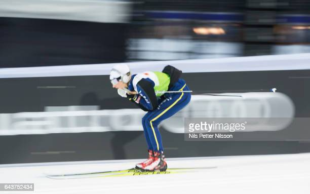 Stina Nilsson of Sweden during men´s and women's training at Lahti Stadium ahead of the FIS Ski World Championships on February 22 2017 in Lahti...