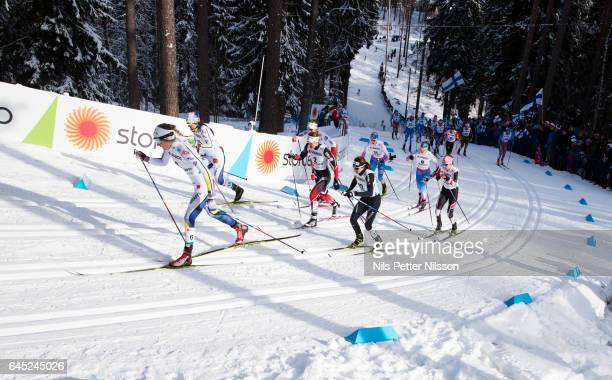 Stina Nilsson of Sweden during the cross country skiathlon during the FIS Nordic World Ski Championships on February 25 2017 in Lahti Finland
