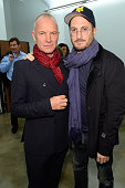 Sting and Darren Aronofsky attend the Battersea Power Station launch party to celebrate the launch of its Global Tour at Canoe Studios on October 29...