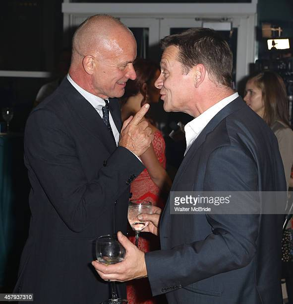 Sting and Guy Retallack attend the Broadway Opening Night After Party for 'The Last Ship' at Pier 60 on October 26 2014 in New York City