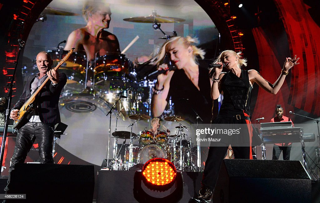 Sting and No Doubt perform onstage at the 2014 Global Citizen Festival to end extreme poverty by 2030 at Central Park on September 27 2014 in New...