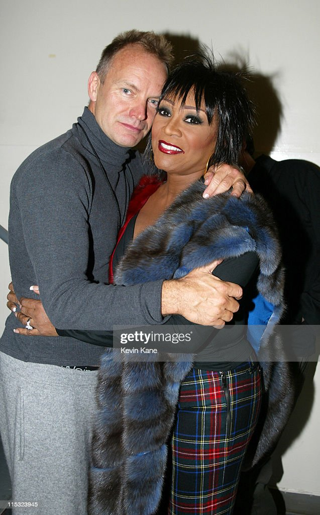 Sting and Patti LaBelle during The 12th Annual Rainforest Foundation Concert - Backstage at Carnegie Hall in New York City, New York, United States.