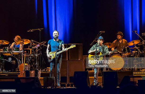 Sting and Paul Simon perform at Genting Arena on April 12 2015 in Birmingham England