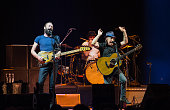 Sting and Paul Simon perform at Le Zenith on April 3 2015 in Paris France