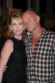 Sting and Trudie Styler attend day one of the Ischia Global Film and Music Festival on July 10 2011 in Ischia Italy