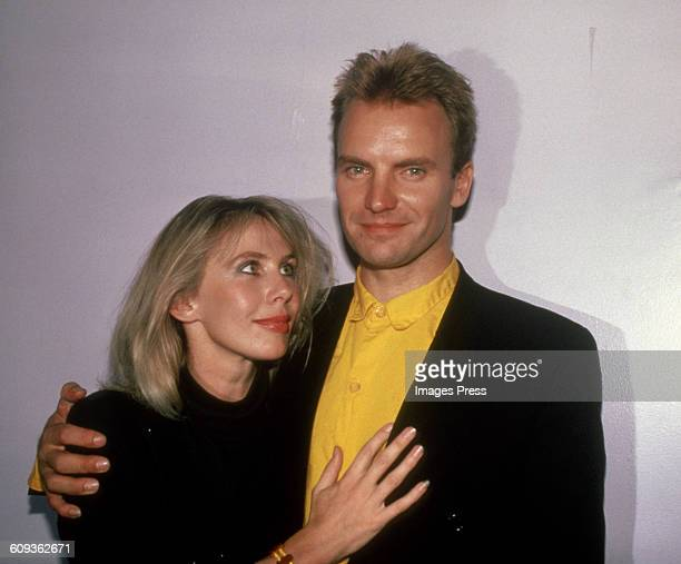 Sting and Trudie Styler circa 1985 in New York City