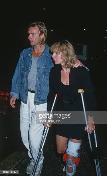 Sting and Trudie Styler during Sting and Trudie Styler Sighting at Canal Bar in New York City August 24 1988 at Canal Bar in New York City New York...