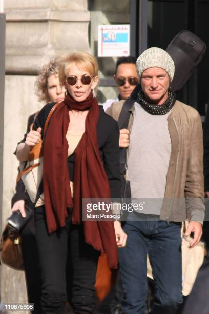 COVERAGE** Sting and Trudie Styler sighting on March 25 2011 in Paris France