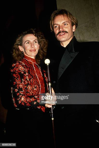 Sting and wife Trudie attends the Broadway Opening Night of 'Three Penny Opera' circa 1989 in New York City