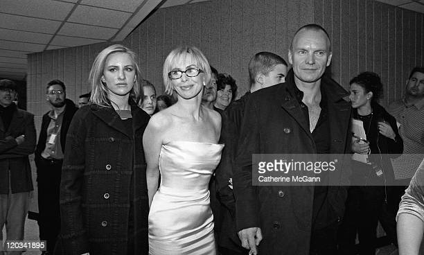 Sting and wife Trudie Styler with unidentified person backstage at the VH1 Fashion Awards in October 1998 in New York City New York