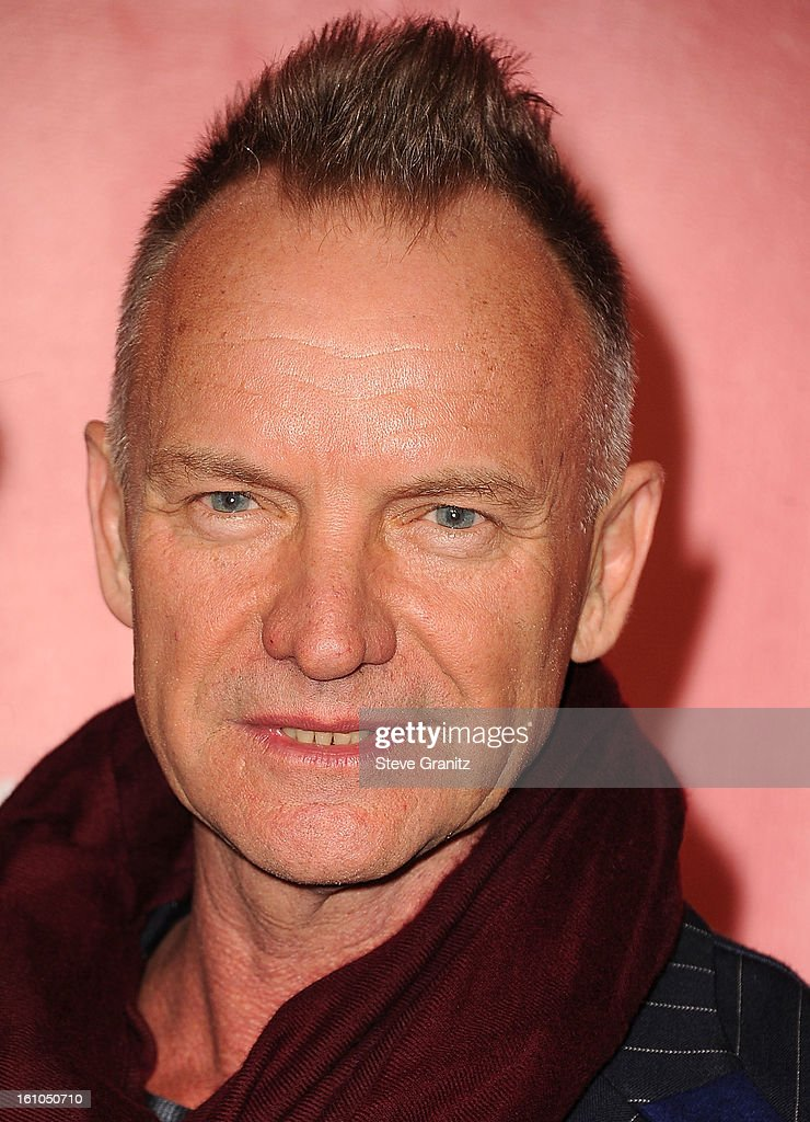 Sting arrives at the 2013 MusiCares Person Of The Year Honoring Bruce Springsteen at Los Angeles Convention Center on February 8, 2013 in Los Angeles, California.