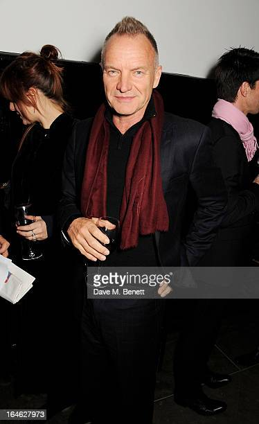 Sting attends an after party following the press night performance of 'Peter And Alice' at The National Cafe on March 25 2013 in London England