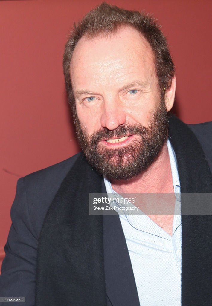 Sting attends his caricature unveiling at Sardi's on January 20, 2015 in New York City.