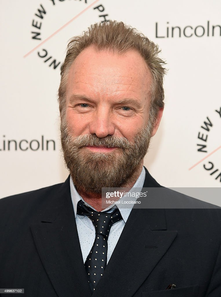 <a gi-track='captionPersonalityLinkClicked' href=/galleries/search?phrase=Sting&family=editorial&specificpeople=220192 ng-click='$event.stopPropagation()'>Sting</a> attends Sinatra Voice for A Century Event at David Geffen Hall on December 3, 2015 in New York City.