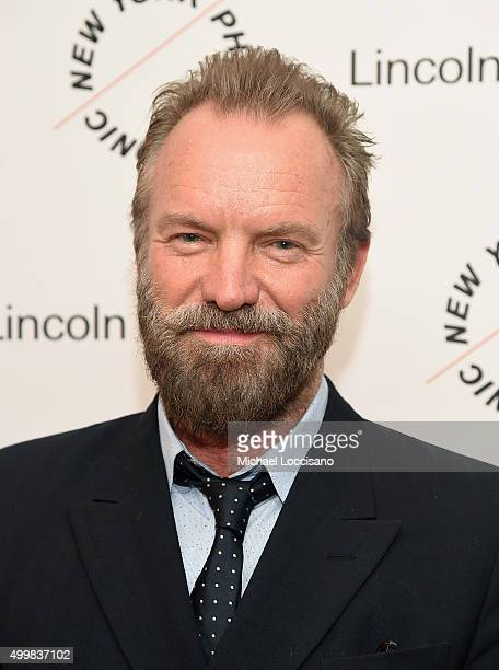 Sting attends Sinatra Voice for A Century Event at David Geffen Hall on December 3 2015 in New York City