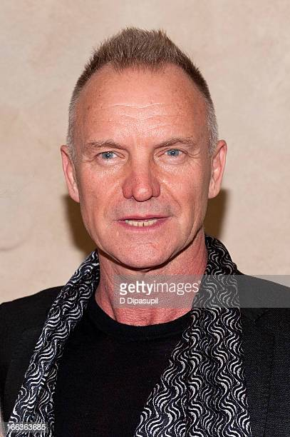 Sting attends the 2013 We Are Family Honors Gala at Manhattan Center Grand Ballroom on April 11 2013 in New York City