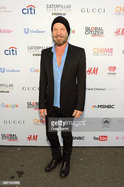 Sting attends the 2015 Global Citizen Festival to end extreme poverty by 2030 in Central Park on September 26 2015 in New York City