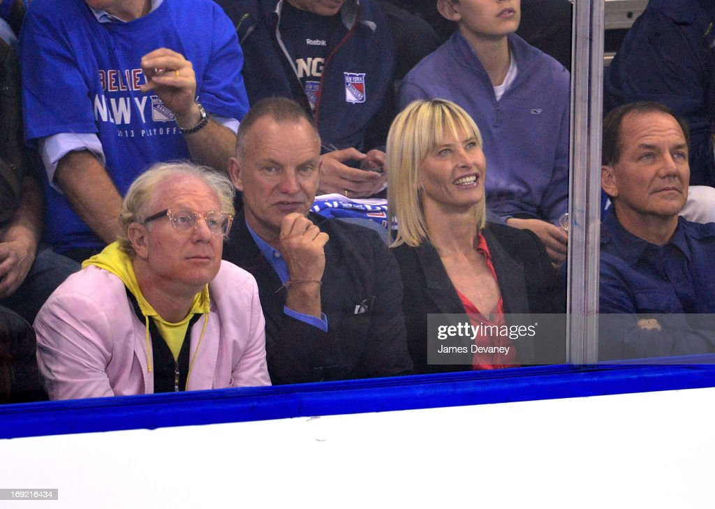 Sting attends the Boston Bruins Vs New York Rangers game at Madison Square Garden on May 21, 2013 in New York City.