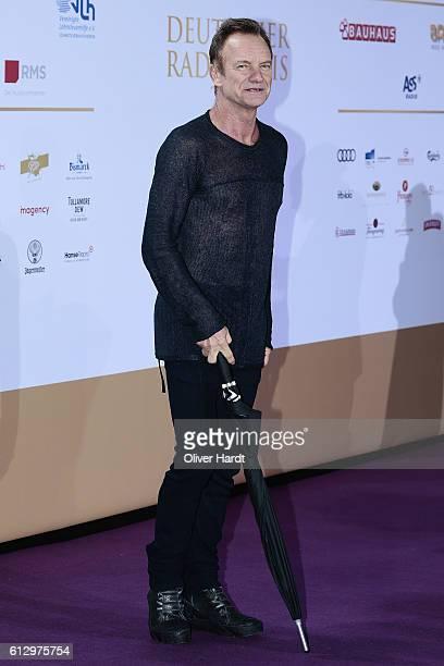 Sting attends the Deutscher Radiopreis at Schuppen 52 on October 6 2016 in Hamburg Germany