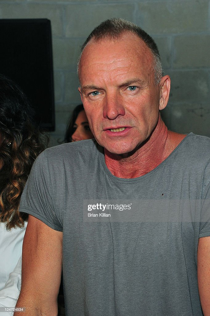 Sting attends the Edun Spring 2012 fashion show during Mercedes-Benz Fashion Week at 330 West Street on September 11, 2011 in New York City.
