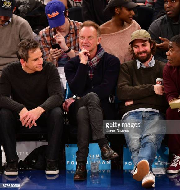 Sting attends the Toronto Raptors Vs New York Knicks game at Madison Square Garden on November 22 2017 in New York City