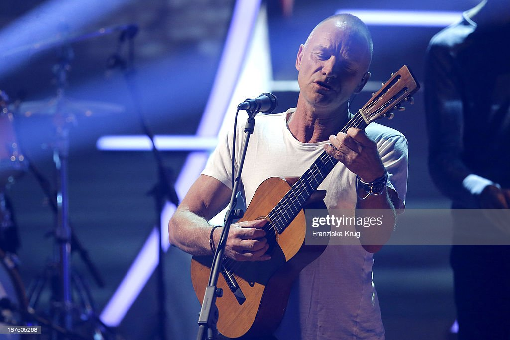 Sting attends Wetten, dass..? tv show on November 09, 2013 in Halle an der Saale, Germany.