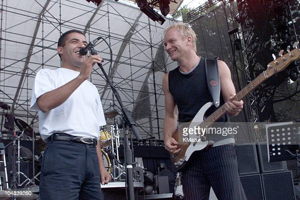 Sting Cheb Mami during Sting Central Park Concert promoted by Best Buy at Central Park in New York City New York United States