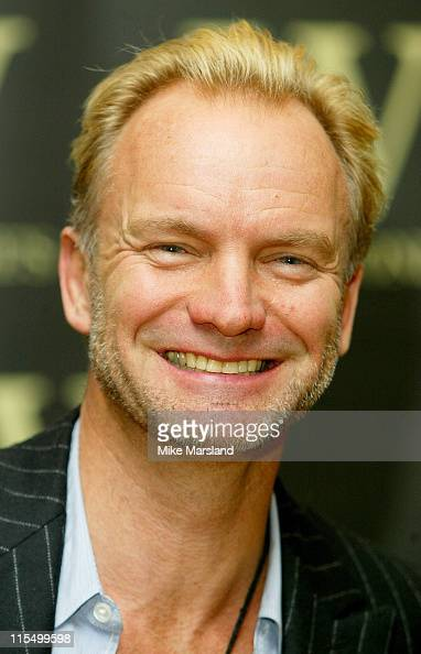 Sting during Sting Signs Copies of His New Book 'Sting Broken Music' London at Waterstones Picadilly in London Great Britain