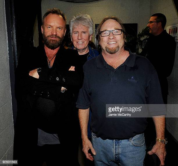 *EXCLUSIVE* Sting Graham Nash and Stephen Stills attend the 25th Anniversary Rock Roll Hall of Fame Concert at Madison Square Garden on October 29...