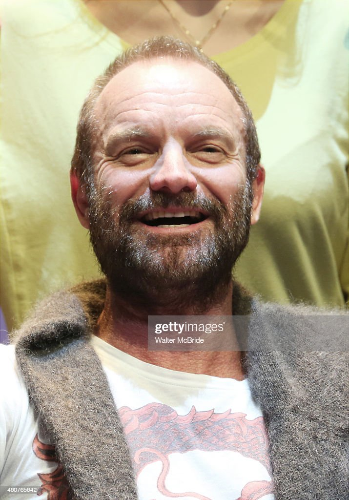 <a gi-track='captionPersonalityLinkClicked' href=/galleries/search?phrase=Sting&family=editorial&specificpeople=220192 ng-click='$event.stopPropagation()'>Sting</a> hosts an autograph signing for the Original Broadway Cast Recording of 'The Last Ship' on stage at The Neil Simon Theatre on December 21, 2014 in New York City.