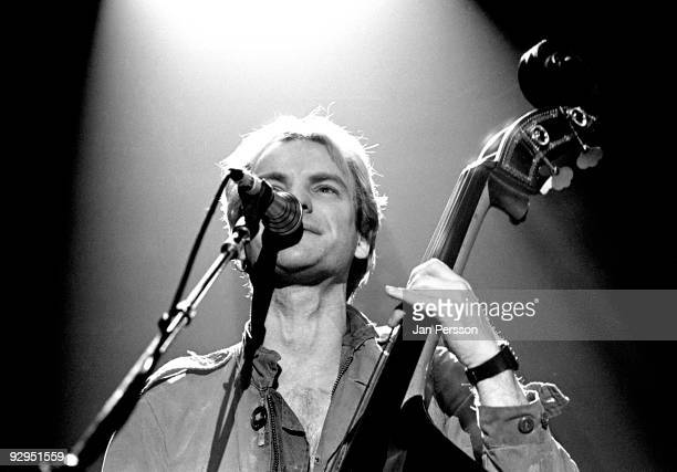 Sting of The Police performs on stage at the Brondbyhallen on January 5th 1982 in Copenhagen Denmark