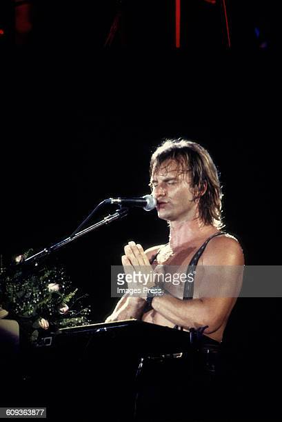 Sting performing during his 'Nothing Like The Sun' tour circa 1988 in Rio de Janeiro Brazil