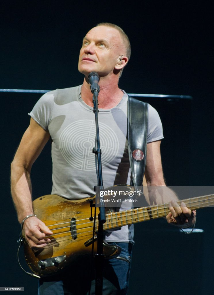 Sting performs at Le Zenith on March 13 2012 in Paris France