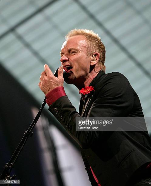 Sting performs live at Symphonica in Rosso at Gelredome on October 15 2010 in Arnhem Netherlands