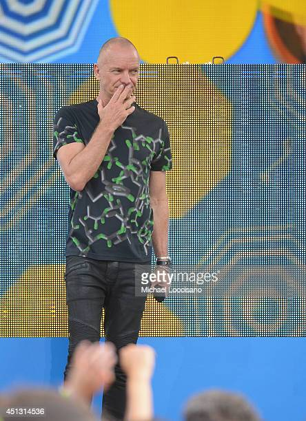 Sting performs on ABC's 'Good Morning America' at Rumsey Playfield on June 27 2014 in New York City