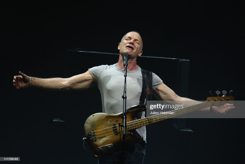 Sting performs on stage at Le Zenith on March 13 2012 in Paris France
