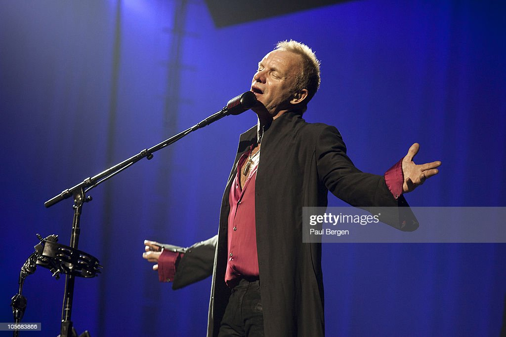 Sting performs on stage during Symphonica In Rosso at Gelredome on October 15 2010 in Arnhem Netherlands
