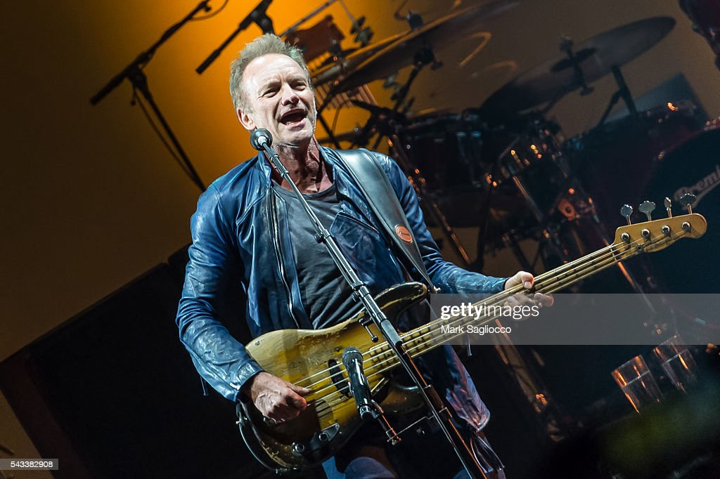 Sting performs on stage during the 'Rock, Paper, Scissors' North American Tour at Madison Square Garden on June 27, 2016 in New York City.