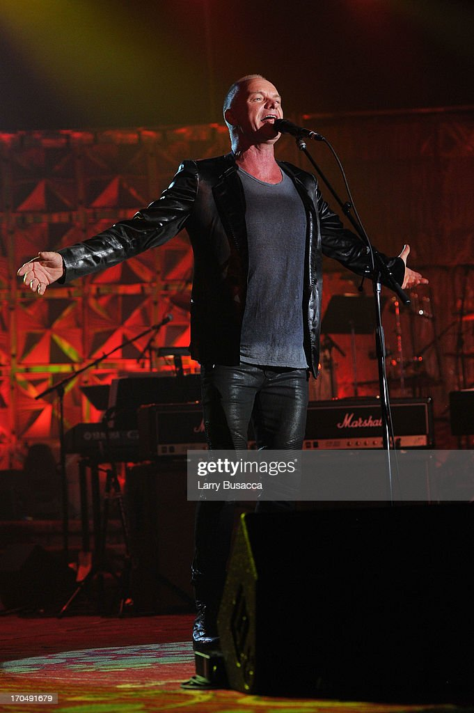 Sting performs onstage at the Songwriters Hall of Fame 44th Annual Induction and Awards Dinner at the New York Marriott Marquis on June 13, 2013 in New York City.