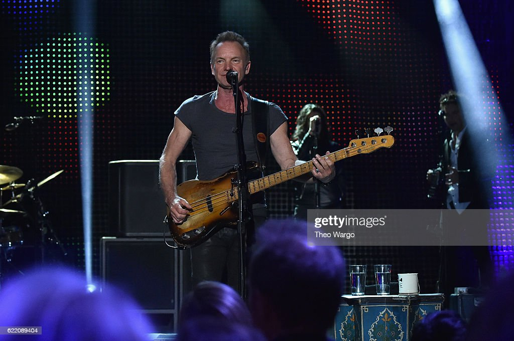 Sting performs onstage during the 57th & 9th iHeartRadio Album Release Party on AT&T at Irving Plaza on November 9, 2016 in New York City.