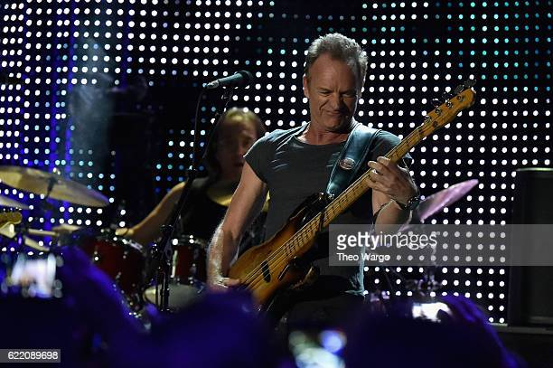 Sting performs onstage during the 57th 9th iHeartRadio Album Release Party on ATT at Irving Plaza on November 9 2016 in New York City