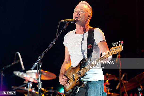 Sting performs onstage on day 1 of the Ibiza123 festival in san antonio on July 1 2012 in Ibiza Spain