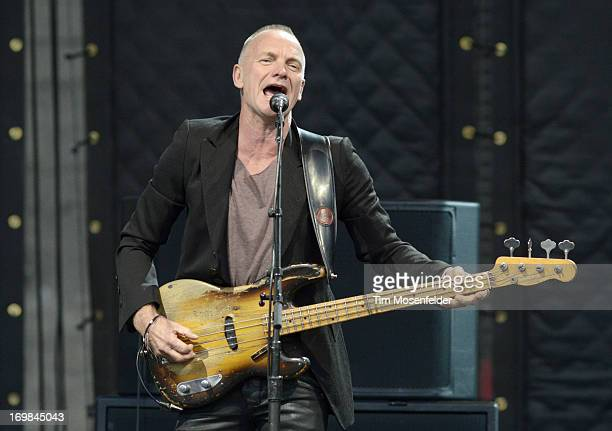 Sting performs part of his Back To Bass Tour at the America's Cup Pavilion on June 2 2013 in San Francisco California