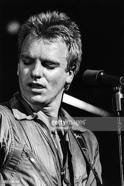 Sting performs with The Police at Zellerbach Auditorium in Berkeley California March 4 1979