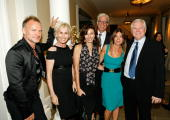 ACCESS*** Sting Trudie Styler Mary Steenburgen Ted Danson and hosts Jena and Michael King pose at Oceana's 2008 Partners Award Gala held at a private...